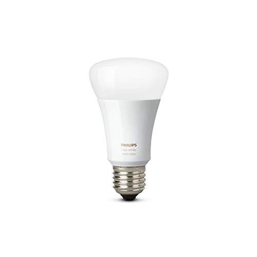 Philips Hue LED Lampe E27, 3. Generation, Einzellampe, dimmbar, 16 Mio Farben, app-gesteuert