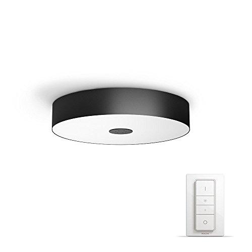 Philips Hue LED Deckenleuchte Fair inkl. Dimmschalter, alle Weißschattierungen, steuerbar auch via App, schwarz, 4034030P7