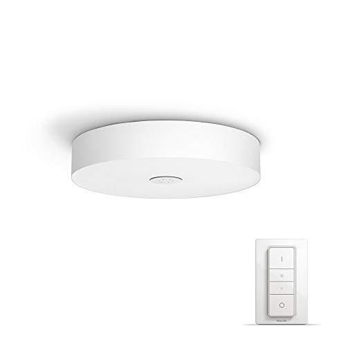 Philips Hue LED Deckenleuchte Fair inkl. Dimmschalter, alle Weißschattierungen, steuerbar auch via App, weiß, 4034031P7