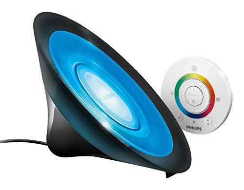 Philips Living Colors Aura, Energiesparende LED-Technologie mit 8 Watt, 16 Millionen Farben, mit Fernbedienung, schwarz 7099830PH
