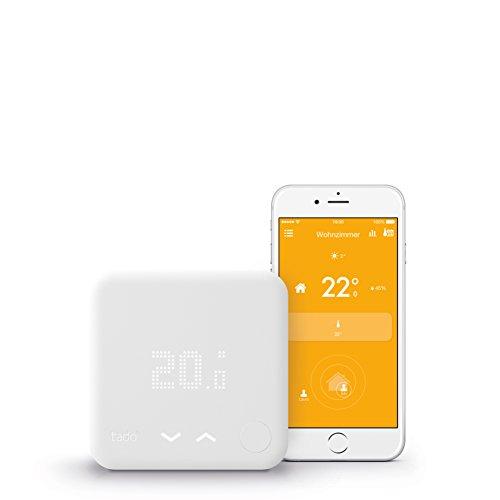 tado° Smartes Thermostat Starter Kit für Wohnungen mit Raumthermostat (v3) - intelligente Heizungssteuerung per Smartphone