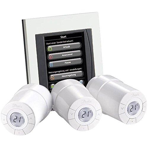 Danfoss Link Starterkit enthält 1 Zentralregler und 3 Connect Thermostate, Farbe weiß, 4 Stück, white, 014G0500