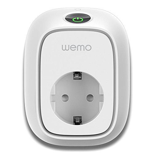 Wemo Insight Switch, Wi-Fi Smart Plug, intelligente Steckdose zum Ein- und Ausschalten Ihrer Lampen und Geräte über Ihr Smartphone, funktioniert mit Amazon Echo und Alexa