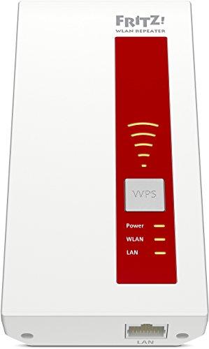 AVM FRITZ!WLAN Repeater 1750E – Dual-WLAN AC + N bis zu 1.300 MBit/s 5 GHz + 450MBit/s 2,4 GHz - 3