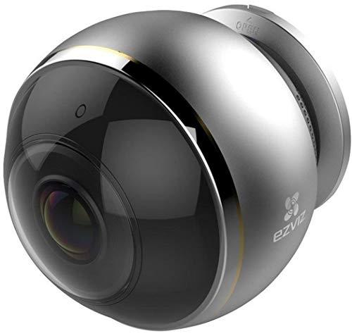 EZVIZ ez360 Pano(Mini Pano), 3 Megapixel WLAN-Fischaugen-Kamera mit Nachtsicht, 360-Grad-/Fischaugen-Panoramaüberwachung, 2/4 Splitscreen, Mikrofon und Lautsprecher, 2.4 Ghz und 5 GHz Dualband-WLAN
