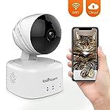 1080P WIFI Überwachungskamera Innen Wlan Handy Wireless IP Kamera mit Bewegungserkennung, Home und Baby Monitor Innenkamera mit 2wege-audio, Nachtsicht, 360° Weitwinkel Haustier/Haus Sicherheitskamera